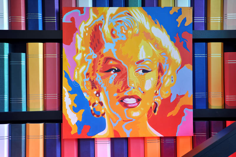 Cartel de Marilyn Monroe imagen de archivo libre de regalías