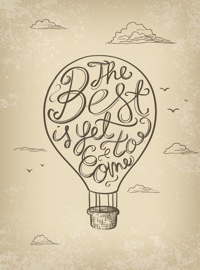 Cartel de motivación dibujado mano imagen de archivo libre de regalías