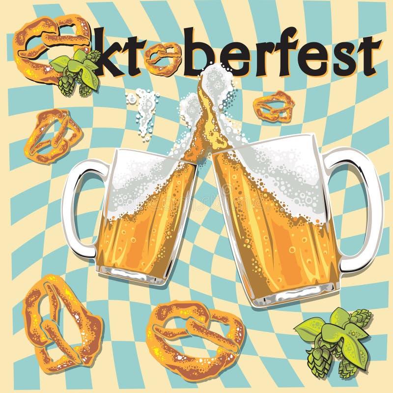 Cartel de Oktoberfest stock de ilustración