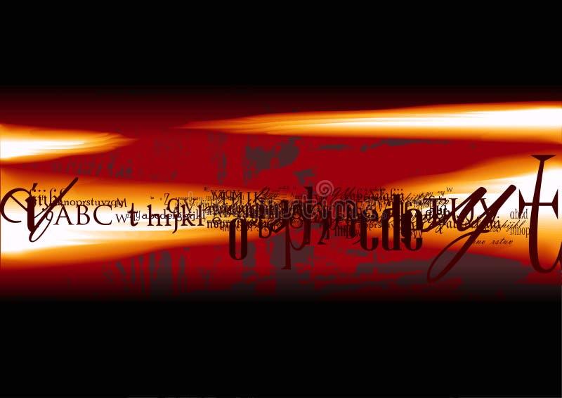 Cartel de película abstracto en llamas stock de ilustración
