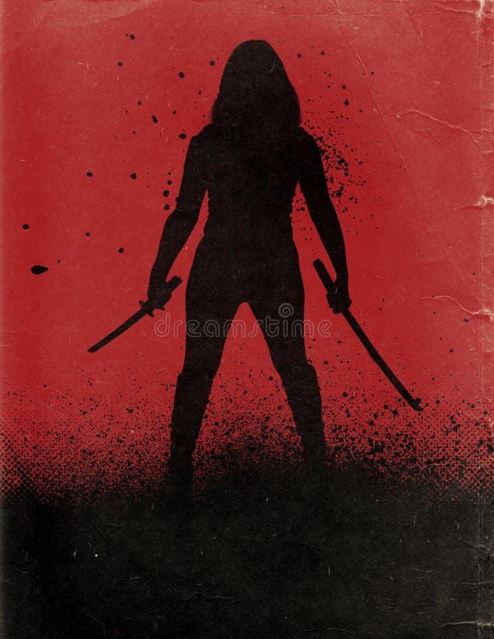Cartel de película de la acción libre illustration
