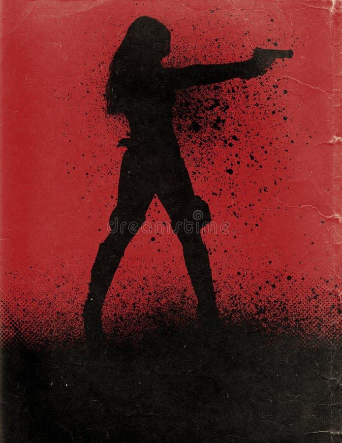 Cartel de película de la acción ilustración del vector