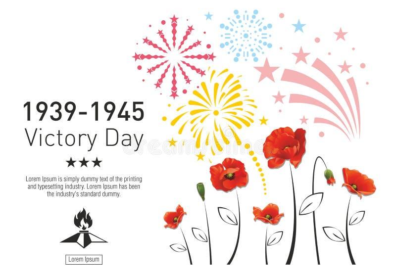 Cartel de Victory Day ilustración del vector