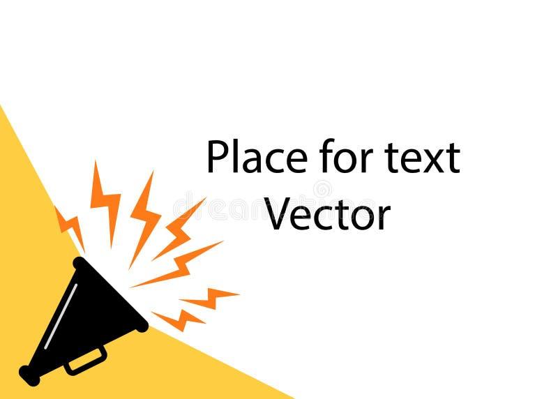 Cartel del altavoz para hacer publicidad de anuncios, con el espacio para el texto El concepto de atraer la atención, noticias Il ilustración del vector