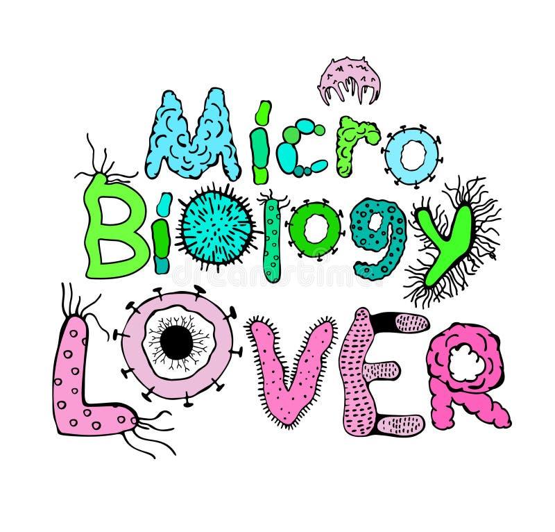 Cartel del amante de la microbiología libre illustration