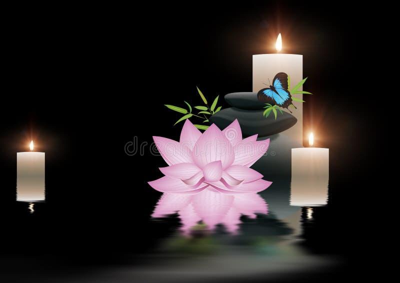 Cartel del balneario del zen stock de ilustración