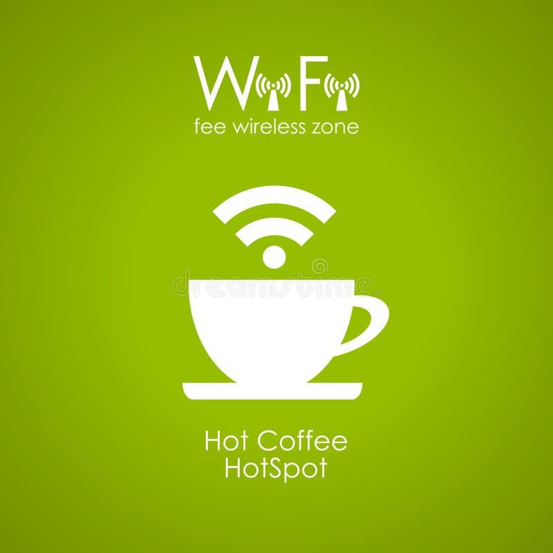 Cartel del café de Internet stock de ilustración