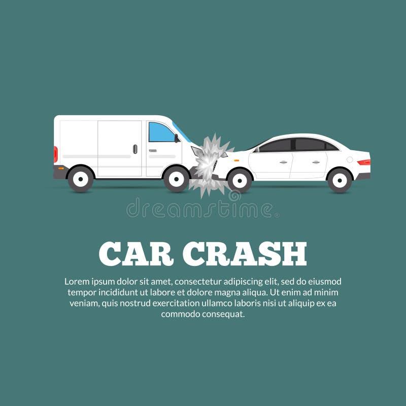 Cartel del choque de coche libre illustration