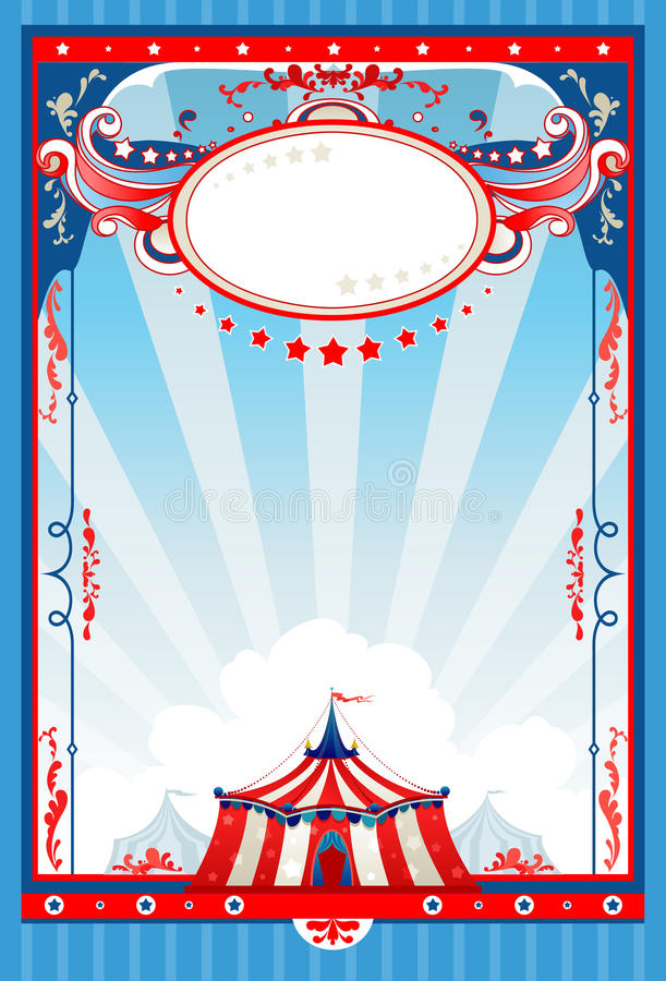Cartel del circo libre illustration
