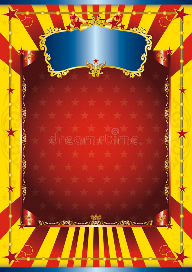 Cartel del circo de la diversión libre illustration