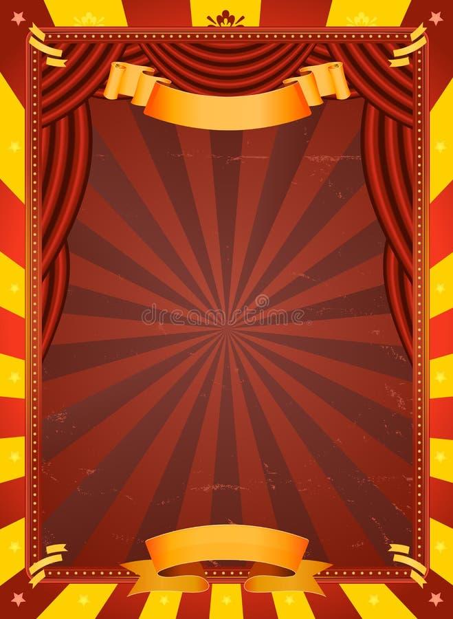 Cartel del circo de la vendimia stock de ilustración