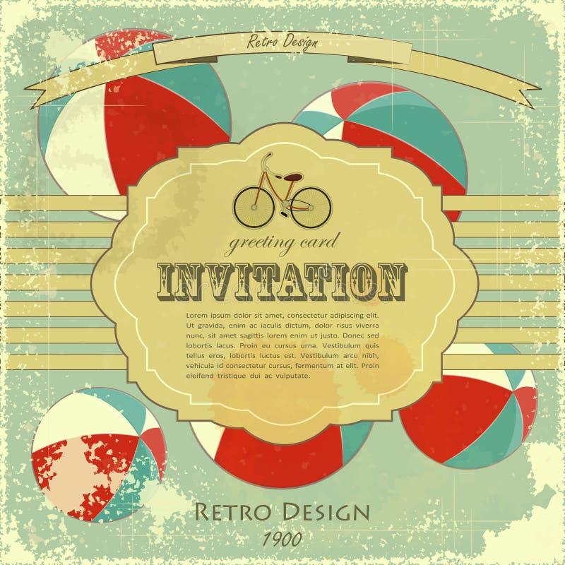 Cartel del circo de la vendimia ilustración del vector