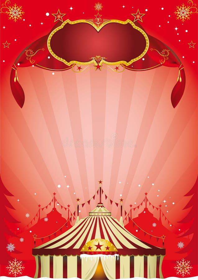 Cartel del circo de Navidad stock de ilustración