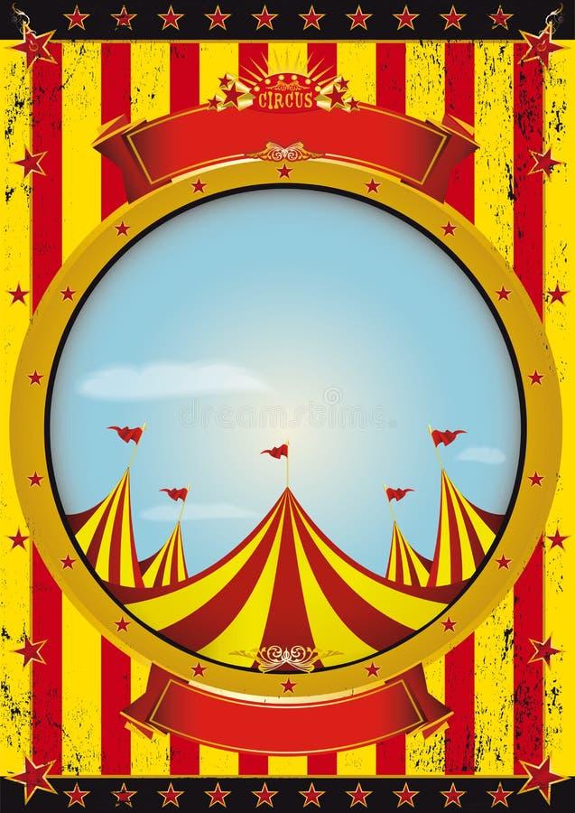 Cartel del circo del entretenimiento ilustración del vector