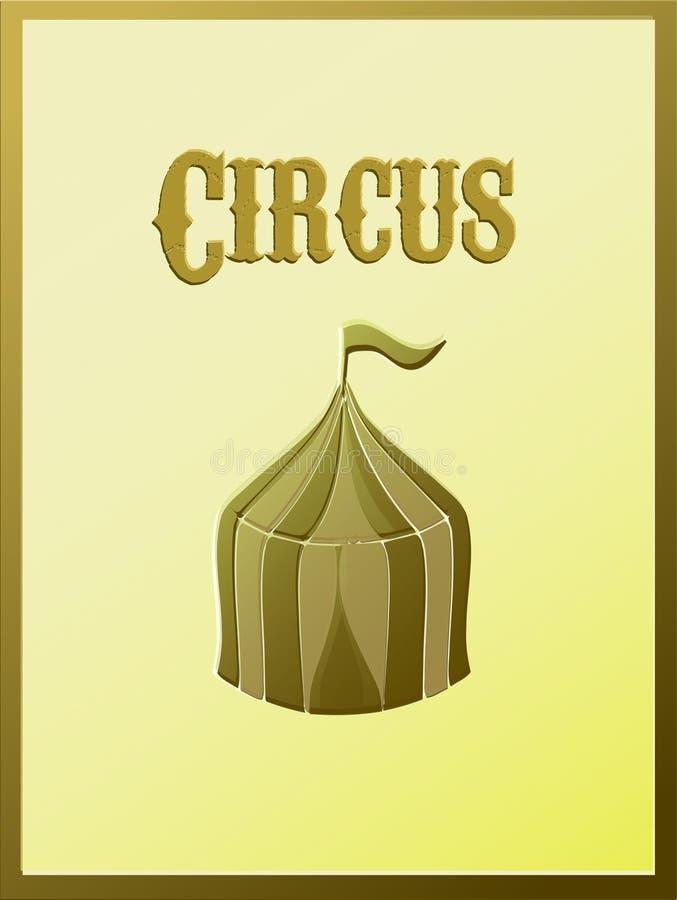 Cartel del circo del vintage stock de ilustración
