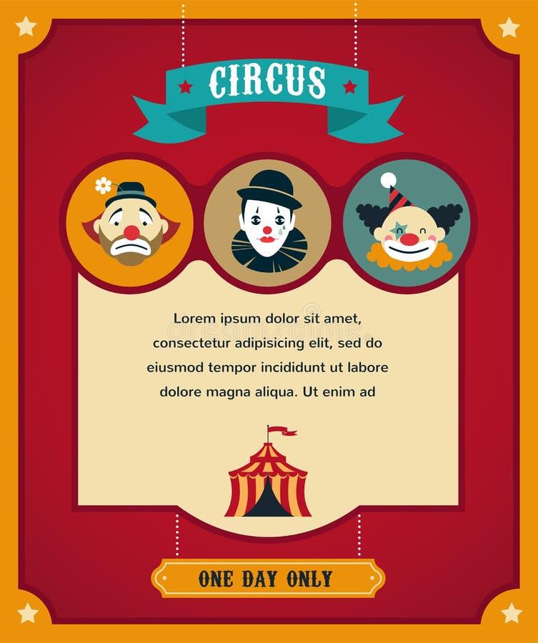 Cartel del circo del vintage, fondo con carnaval libre illustration