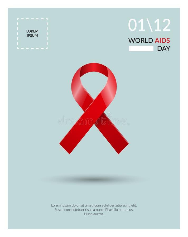 Cartel del concepto del Día Mundial del Sida libre illustration