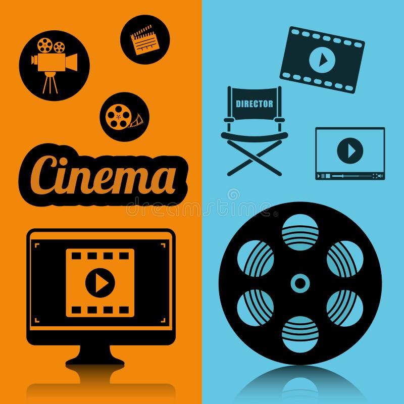 cartel del concepto de la industria del cine del cine ilustración del vector