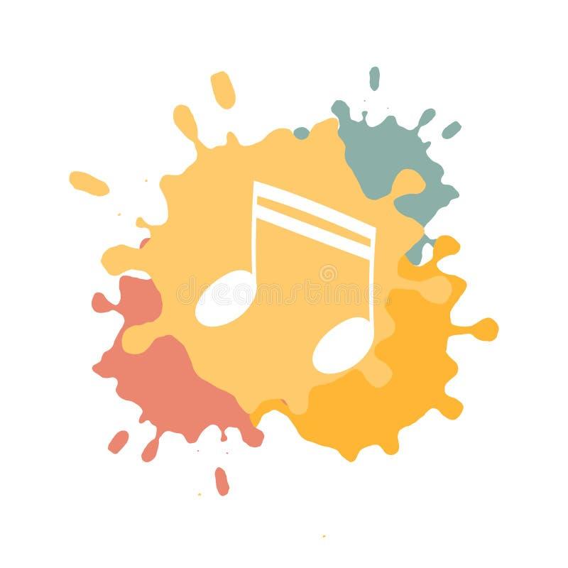 Cartel del concepto del festival de música libre illustration