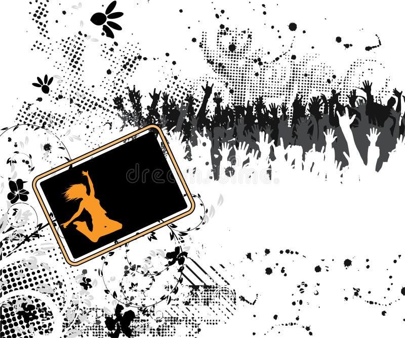 Cartel del concierto de Grunge stock de ilustración