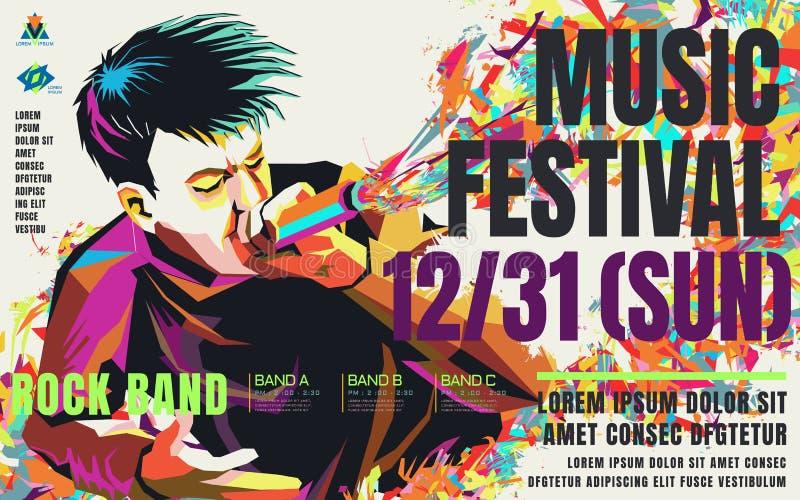 Cartel del concierto de la música libre illustration