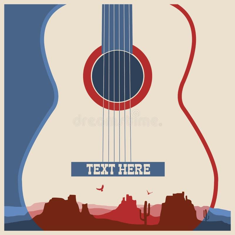 Cartel del concierto del festival de música stock de ilustración