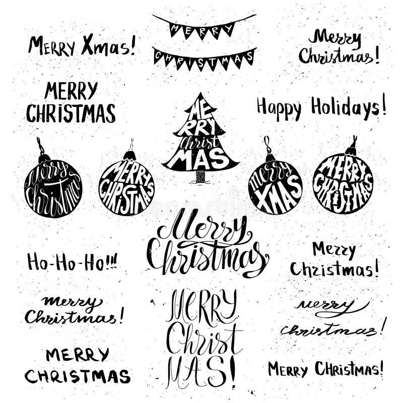 Cartel del día de fiesta de la Navidad stock de ilustración