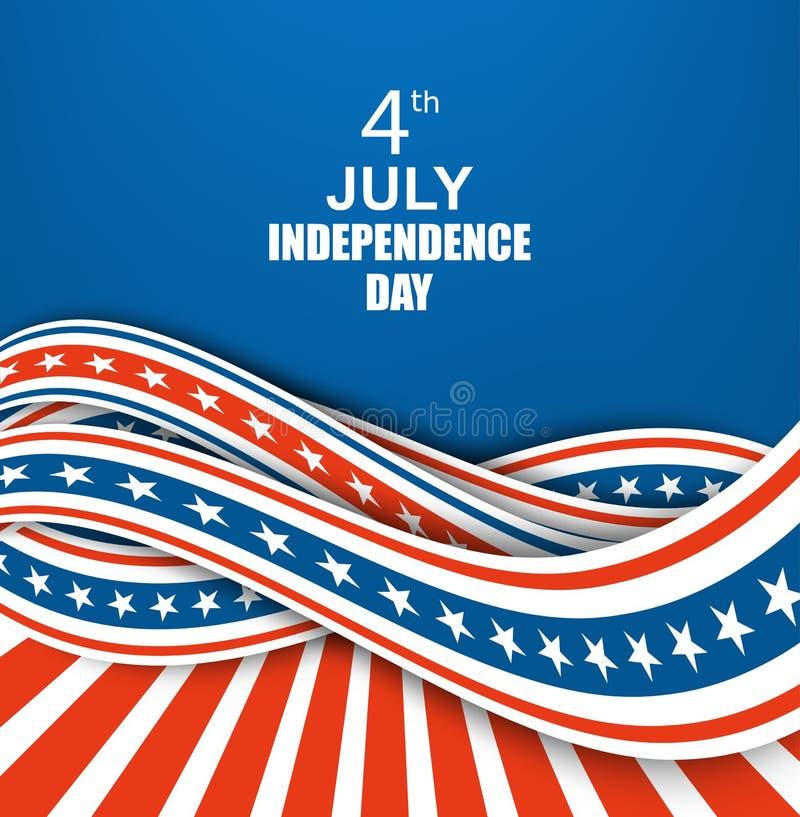 Cartel del Día de la Independencia del vintage Ilustración del vector ilustración del vector