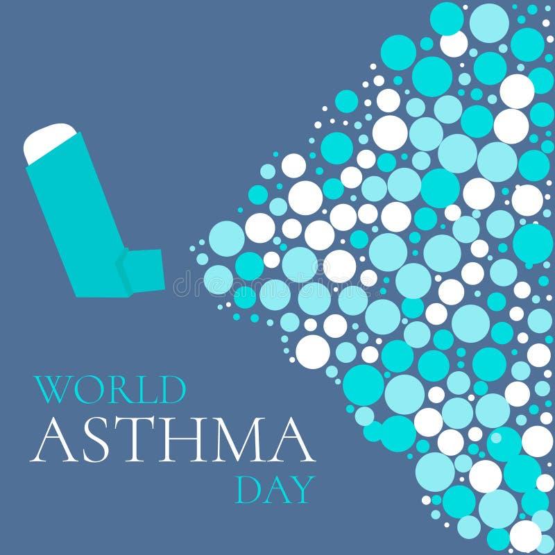 Cartel del día de la solidaridad del asma libre illustration
