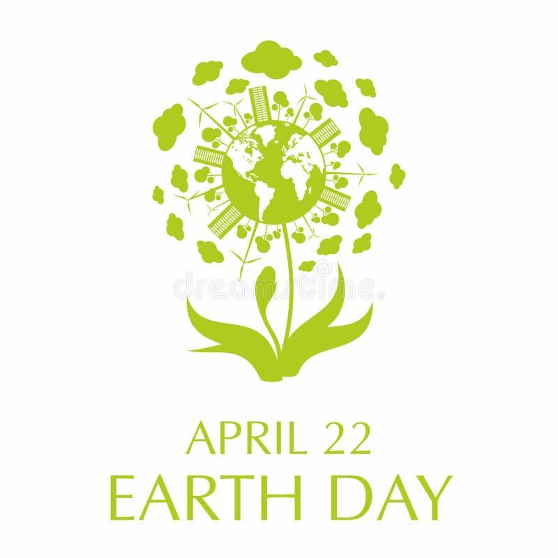 Cartel del Día de la Tierra stock de ilustración