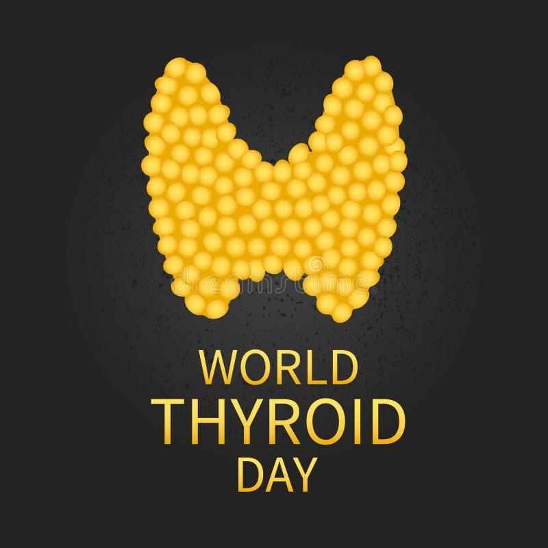 Cartel del día de la tiroides del mundo ilustración del vector