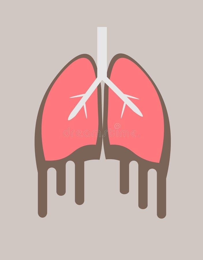 Cartel del día de tuberculosis de mundo con los pulmones hechos de píldoras en el fondo blanco ilustración del vector