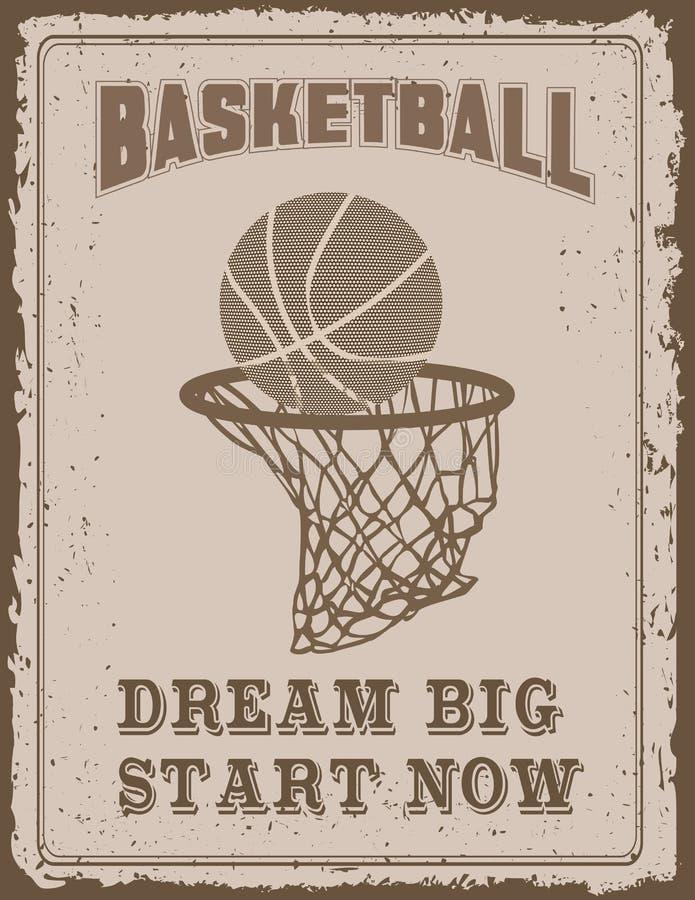 Cartel del deporte del vintage libre illustration