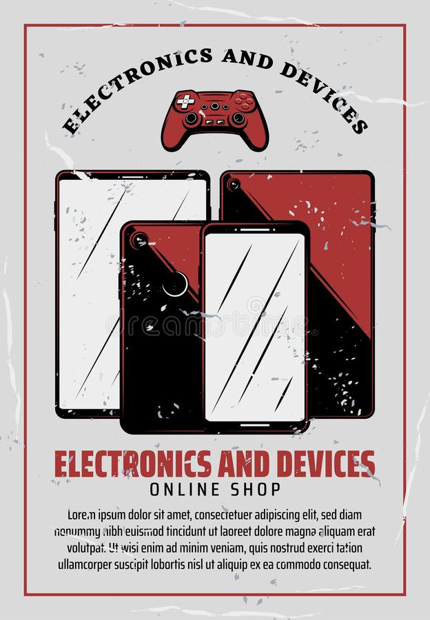 Cartel del dispositivo electrónico de la tecnología digital libre illustration