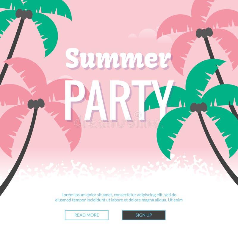 Cartel del ejemplo del partido del verano ilustración del vector