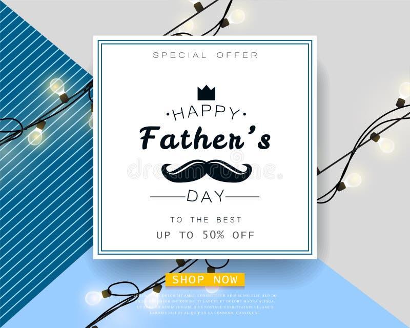 Cartel del ejemplo del vector de la oferta especial del día del padre s stock de ilustración