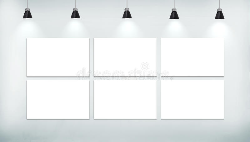 Cartel del espacio en blanco seis stock de ilustración