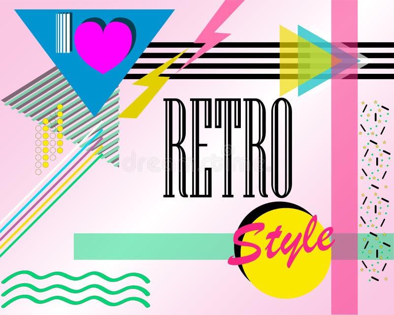 cartel del Estallido-estilo con las palabras: 'Amo estilo retro ' Ilustración del vector libre illustration