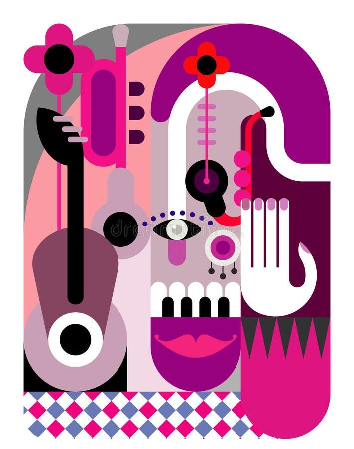 Cartel del festival de música stock de ilustración