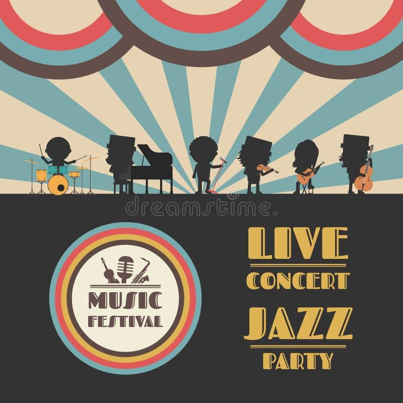 Cartel del festival de música ilustración del vector