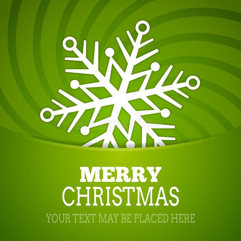 Cartel del fondo del copo de nieve de la Navidad del vector libre illustration