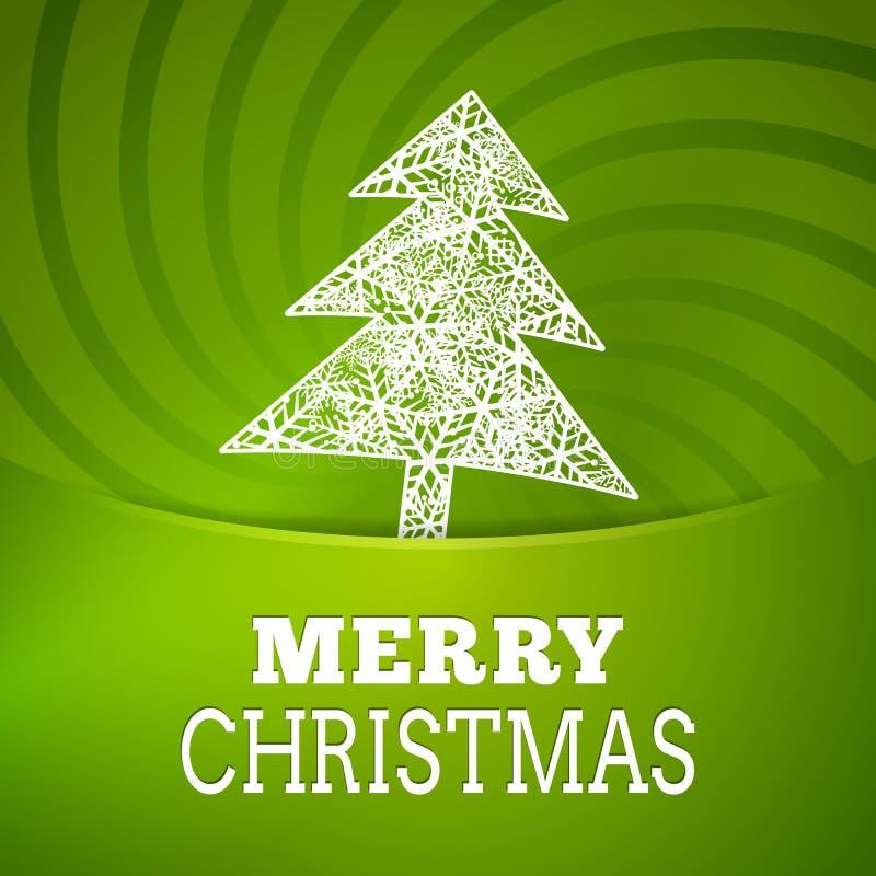 Cartel del fondo del copo de nieve del sree de la Navidad del vector stock de ilustración