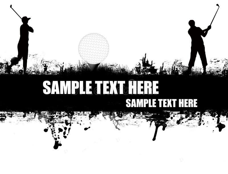 Cartel del golf libre illustration