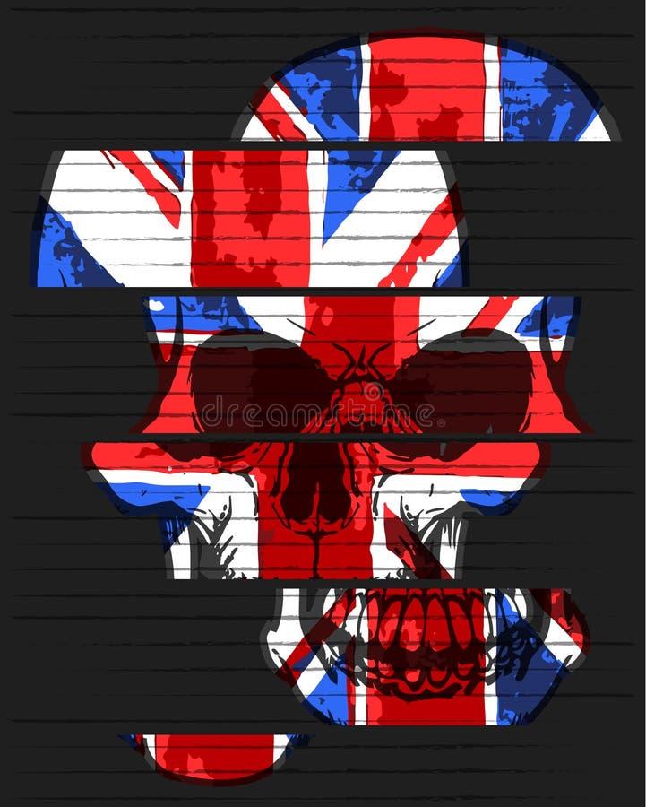 Cartel del gráfico del cráneo libre illustration