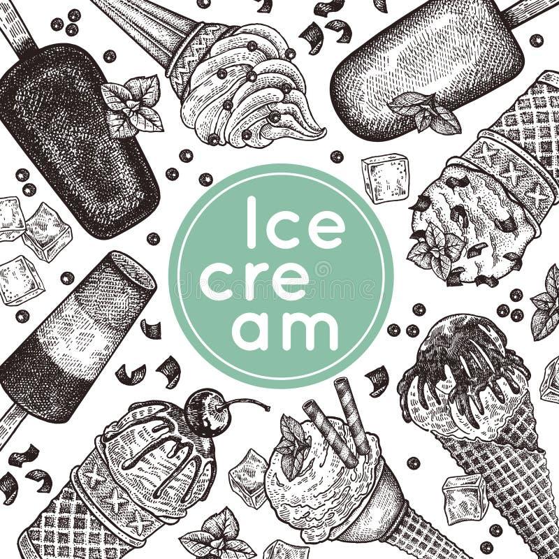 Cartel del helado stock de ilustración