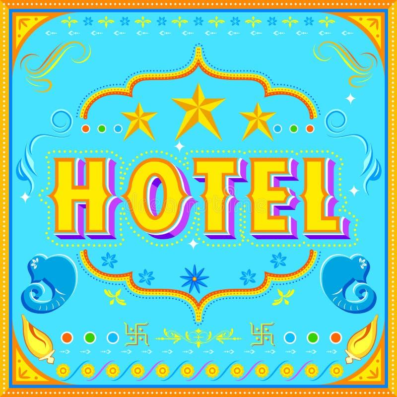 Cartel del hotel stock de ilustración
