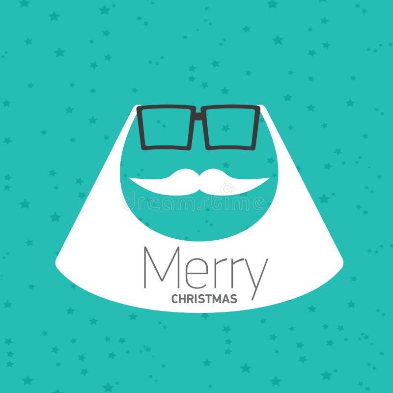 Cartel del inconformista de la Navidad para el partido o la tarjeta. ilustración del vector