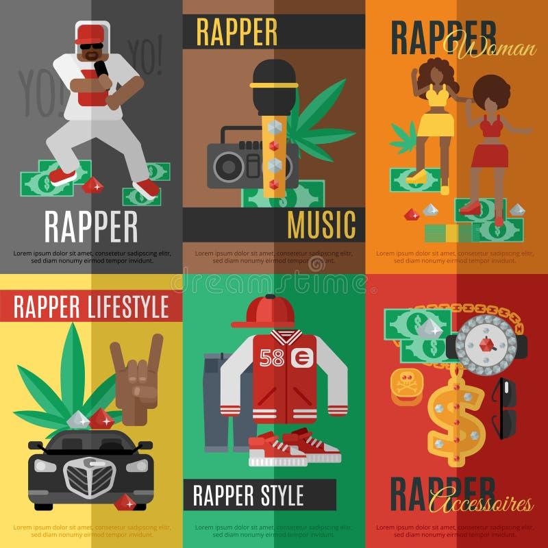 Cartel del música rap ilustración del vector