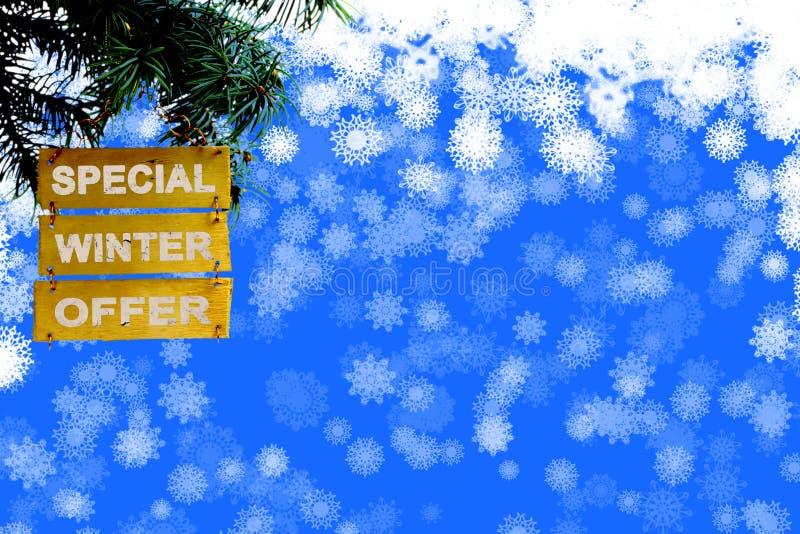 Cartel del negocio de los días de fiesta de la Navidad o tarjeta promocional de la plantilla de la bandera fotografía de archivo