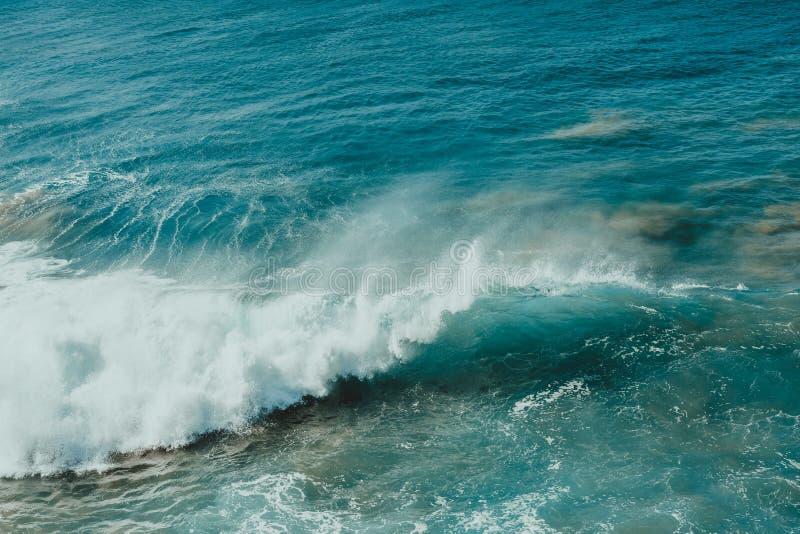 Cartel del océano Onda y arena imagen de archivo libre de regalías